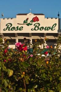 Close-Rose-Garden-and-Rose-Bowl-Sign-on-Stadium-Pasadena-California-200x300